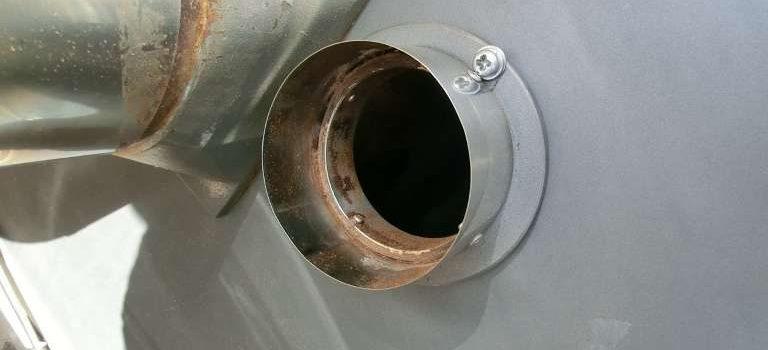 コーヒー豆焙煎機の掃除|排気ダクト